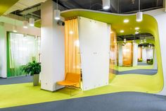 za bor architects makes yandex office pop in moscow