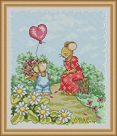 Cross Stitch Patterns - Mother's Day - instant download