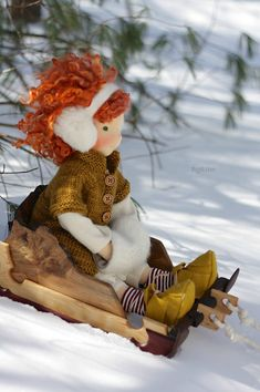 Ewa and her magical sleigh, by Fig & Me :: Figandme Online Shop