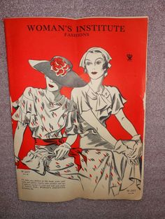 1930 s Women s Institute Fashion Magazine Pattern Book Sewing, Hat for all ages