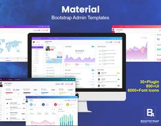 Material is a #Bootstrap #AdminTemplate with an attractive design concept. The material comes with mega menu and setting. Bootstrap Admin Template Come with SaaS. . .  . #AdminPanel #Bootstrap4 #crm #CSS3 #Dashboard #webkit #envato #uiwebkit #uiux #ux #ui