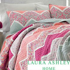 i think this is so cute! Laura Ashley 'Ainsley' Cotton Quilt and Optional Sham Separates