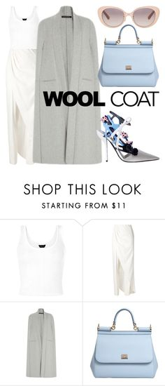 """Nadia"" by dayal-may ❤ liked on Polyvore featuring Baja East, Sally Lapointe, Dolce&Gabbana, Linda Farrow, Dior, dolceandgabbana, sally, LindaFarrow and woolcoat"