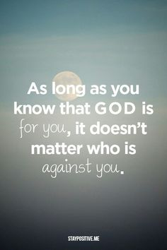 If God is for us, who can stand against!