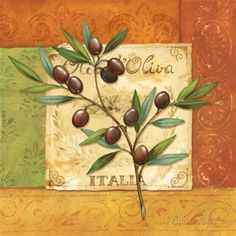 Olives du Midi II Impressão artística