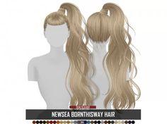 Sims 4 Hairs ~ Coupure Electrique Newsea`s Born This Way hair retextured The Sims 4 Pc, Sims Four, Sims 4 Cas, Sims Cc, Sims 4 Mods Clothes, Sims 4 Clothing, Mod Hair, Sims 4 Black Hair, The Sims 4 Cabelos