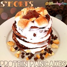 S'Mores Protein Pancakes ***Need s'mores protein powder***