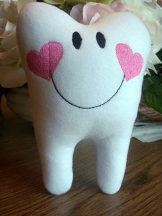 Tooth Fairy Pillow from Etsy Tooth Pillow, Tooth Fairy Pillow, Cushion Ideas, Piggy Bank, Ideas Para, Teeth, Stitches, Baby Kids, Entertaining