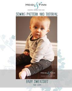 HeidiandFinn modern wears for kids: Sneak Peek! Baby Sweatsuit pattern and tutorial