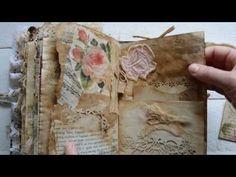 Junk journal -Vintage Rosa azure part 2. - YouTube