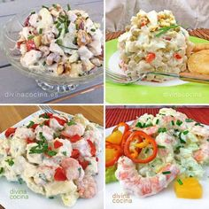 You searched for ensaladilla - Divina Cocina Mexican Food Recipes, Real Food Recipes, Vegetarian Recipes, Cooking Recipes, Healthy Recipes, Ethnic Recipes, Ensalada Rusa Recipe, Delicious Cake Recipes, Kitchen Dishes