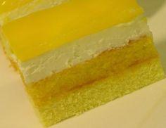 Jarné sunquickové rezy Lebanese Recipes, Russian Recipes, Food Design, Kiwi, Baked Goods, Mousse, Jelly, Cheesecake, Deserts