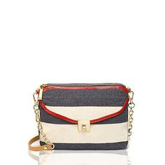 I love anything nautical   CANVAS STRIPE POSTINO CROSSBODY from Tommy Hilfiger USA | Sporty and Chic Nautical Cute