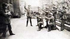 Execution of a German Communist in Munich, 1919.
