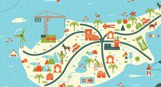 http://www.behance.net/gallery/Maps-and-locations-illustrations/7370825  Maps and locations illustrations by Adam Quest, via Behance