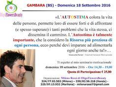 Autostima e Pensiero Positivo: AUTOSTIMA - Brescia, 18 settembre 2016…