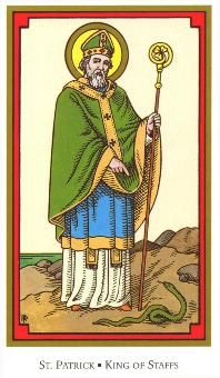 5-18-12 KING OF STAFFS (Tarot of the Saints): It's a day to be bold and step up to the plate of leadership.    In fact, you may be a role model for others to follow, so show everyone what you're made of. Show them what you are capable of accomplishing. Your guidance, direction, and good advice to others could make an important, positive difference. >>See more at www.facebook.com/tarotwisdomreadings