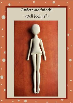 "PDF, Cloth Doll Pattern 18"" ,PDF Sewing Tutorial,Soft Doll Pattern"