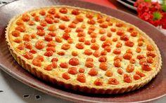 Quiche de queijo de cabra com tomatinhos