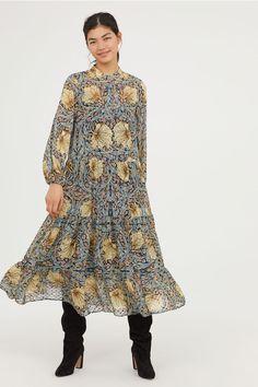 H amp M x William Morris  amp  Co Blue Floral Patterned Maxi Dress UK 10 4628fd6b0