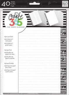 Note and Graph Paper Stripes for The Happy Planner by Me & My Big Ideas
