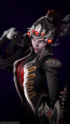 Amazing Widowmaker Huntress from Overwatch by lemon100 on DeviantArt #overwatch #art #cosplay #costume