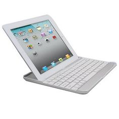 "iXCC (tm) Aluminum Bluetooth Keyboard Case for Apple iPad 2 and iPad 3 ""the New iPad"" (Silver with White Keys)        Compatible With:   Apple iPad 2, iPad 3, ""the New iPad"": 16GB, 32GB & 64GB, WIFI and 3G, 4G       Product Feature :    * 3-in-1 design: Wireless Bluetooth Keyboard + Aluminum Case + iPad Stand  * Stylish, ultra-thin and lightweight. Half as thin as most folios for the New iPad  * Built-In wireless Bluetooth 2.0 Island-style keyboard.  * A grade aluminum with a bead-blasted…"