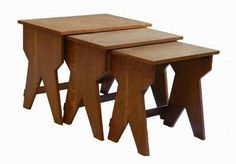 Nest of Tables Mid Century Guillerme et Chambron style