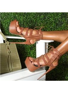 Shoespie Fashion Solid Color Platform Sandals - Shoespie.com