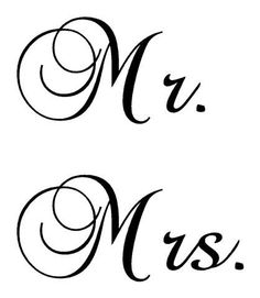 Mr & Mrs Vinyl lettering decal stickers by SherrysStickers on Etsy, $7.00