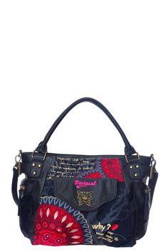 Bolso de mujer Desigual modelo Mcbee Bolas Rojas. Cómo tiene que ser un bolso: muy práctico, con varios bolsillos exteriores y un único compartimento interior muy espacioso. Mide: 41x28x18cm. ¡Elige tu color!