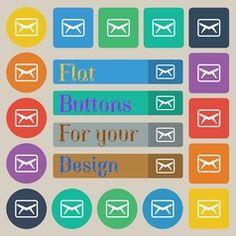 Mail Envelope Message icon sign Set of twenty vector
