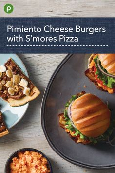 A new cheese for your burger. Plus a fun dessert! Publix Recipes, Beef Recipes, Real Food Recipes, Cooking Recipes, Yummy Food, Lunch Ideas, Dinner Ideas, Dinner Recipes, Healthy Food