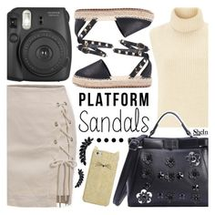 """""""Platform Sandals"""" by pastelneon ❤ liked on Polyvore featuring Étoile Isabel Marant, Kate Spade, Fujifilm and Cristabelle"""