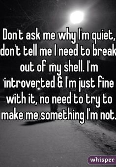 Whisper App.  Confessions from Introverts