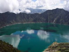 """""""Black Sheep Inn, Ecolodge - Chugchilan, Ecuador.  Been there"""". Me too!  This is the Laguna del Quilatoa; from the Black Sheep Inn, you can take a combi to Quilatoa, then hike back to the inn.  It's a kinda of long, but lovely hike back."""