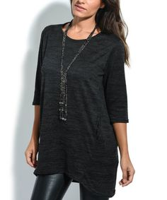 This Black Pocket Tunic is perfect! #zulilyfinds