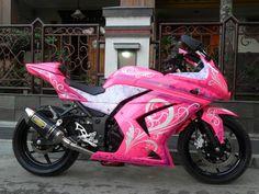 custom 2012 kawasaki ninja 250r pink | Variasi / Modifikasi Kawasaki Ninja 250R Super Keren