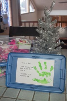Operation Christmas Child - Fill a Shoebox! I love the idea of a hand-print creating a connection between the sender & the recipient, but I have always been told not to include any religious message as you do not know the background of the area where the boxes will be sent. ~M x