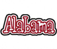Items similar to Alabama Embroidery Machine Applique Design 15050 on Etsy Tide Logo, Embroidery Monogram, Embroidery Ideas, Machine Applique Designs, Sewing Machine Embroidery, Football Design, Polymer Clay Crafts, Alabama Crimson, Crimson Tide