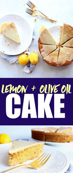 Deliciously moist Lemon Olive Oil Cake that is a perfectly sweet summer treat! You'll love this low carb, gluten free, and paleo-friendly cake recipe!