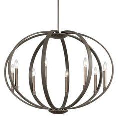 Kichler Lighting Elata Collection 8-light Olde Bronze Chandelier/Pendant | Overstock.com Shopping - The Best Deals on Chandeliers & Pendants