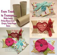 Trash to Treasure Pillow Boxes