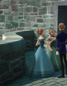 Frozen (gif) of Rapunzel and Eugene.