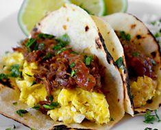 Orange And Beer Braised Pork Carnitas Breakfast Tacos - Honest Cooking