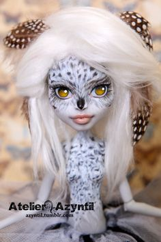 OOAK Custom Monster High Repaint - Snowy Moonglow by Azyntil and Nharie