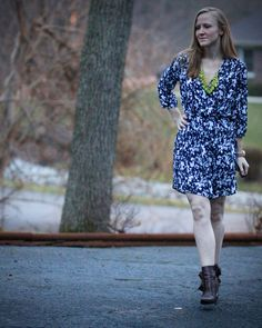 Workin' long-sleeved dress - Work it Blog