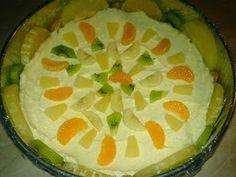 Tort Diplomat preparare Kiwi, Desserts, Food, Pineapple, Tailgate Desserts, Deserts, Essen, Postres, Meals