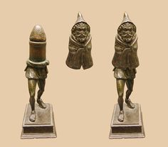 Bronze statuette of the Roman fertility god Priapus, made in two parts. Dated to the 1st century A.D. Found in Rivery, Picardy, France in 1771 and is the oldest Gallo-Roman object in the collection of the Museum of Picardy.  Wiki: http://commons.wikimedia.org/wiki/File:Mus%C3%A9e_Picardie_Arch%C3%A9o_03.jpg