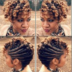 Stylish Flat Twist/ Twist Out Updo IG:@naturallymichy #naturalhairmag